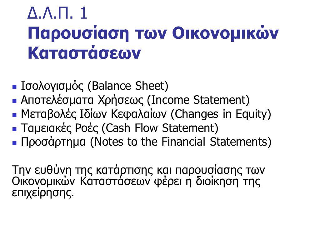 Δ.Λ.Π. 1 Παρουσίαση των Οικονομικών Καταστάσεων
