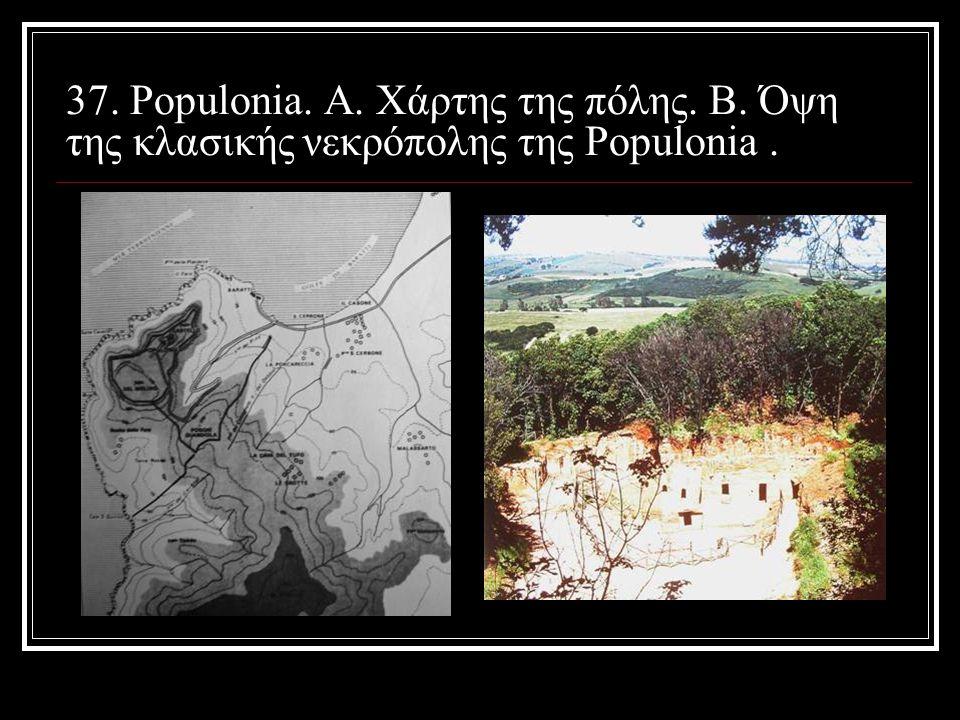 37. Populonia. Α. Χάρτης της πόλης. Β