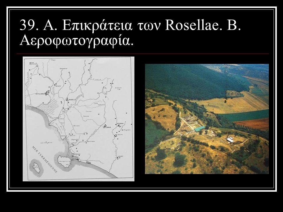 39. Α. Επικράτεια των Rosellae. Β. Αεροφωτογραφία.