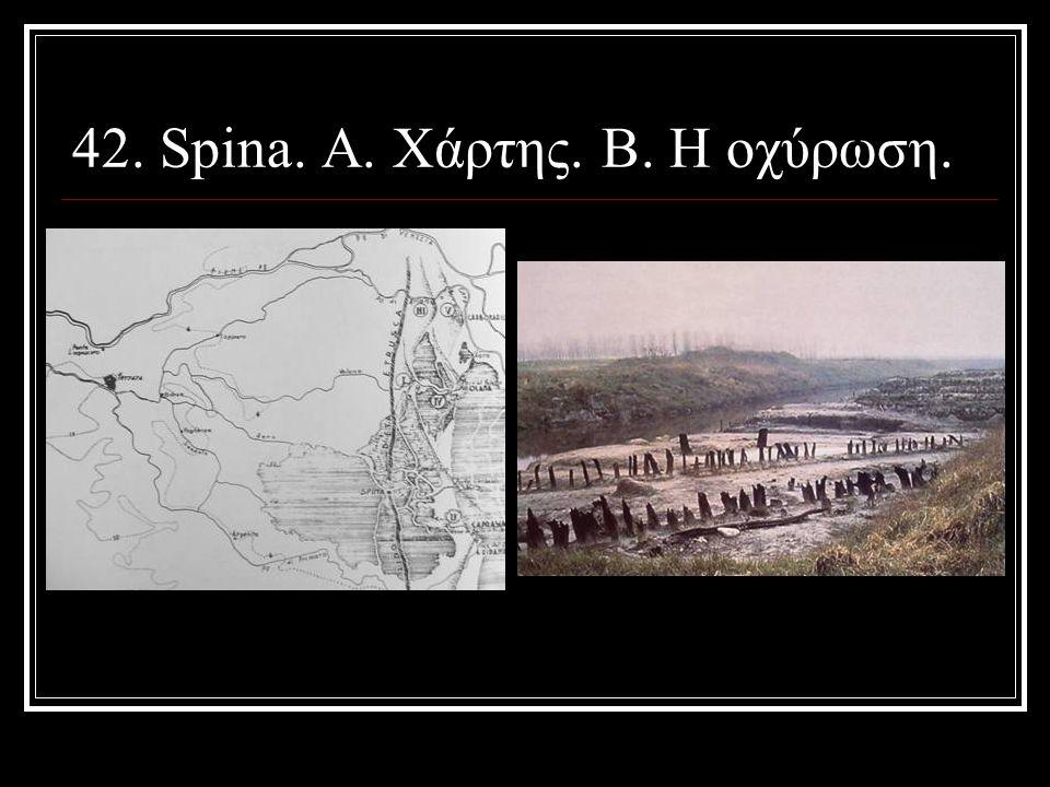 42. Spina. Α. Χάρτης. Β. Η οχύρωση.