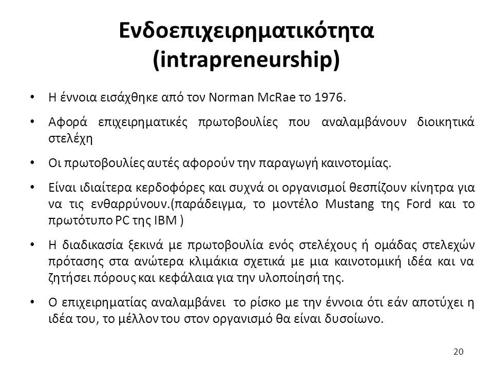 Ενδοεπιχειρηματικότητα (intrapreneurship)