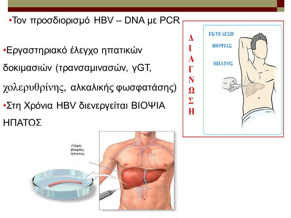 Τον προσδιορισμό HBV – DNA με PCR