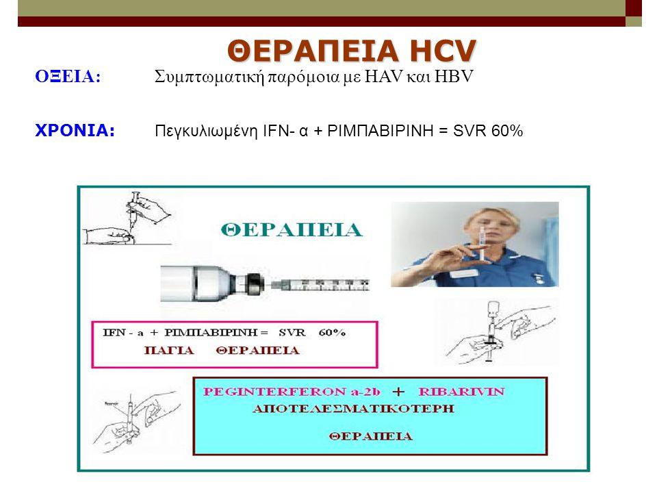 ΘΕΡΑΠΕΙΑ HCV ΟΞΕΙΑ: Συμπτωματική παρόμοια με HAV και HBV