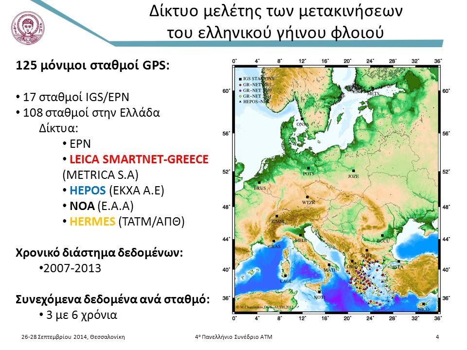 Δίκτυο μελέτης των μετακινήσεων του ελληνικού γήινου φλοιού