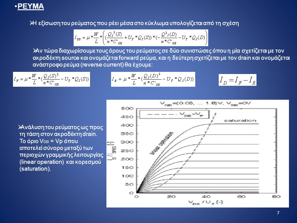 ΡΕΥΜΑ Η εξίσωση του ρεύματος που ρέει μέσα στο κύκλωμα υπολογίζεται από τη σχέση.