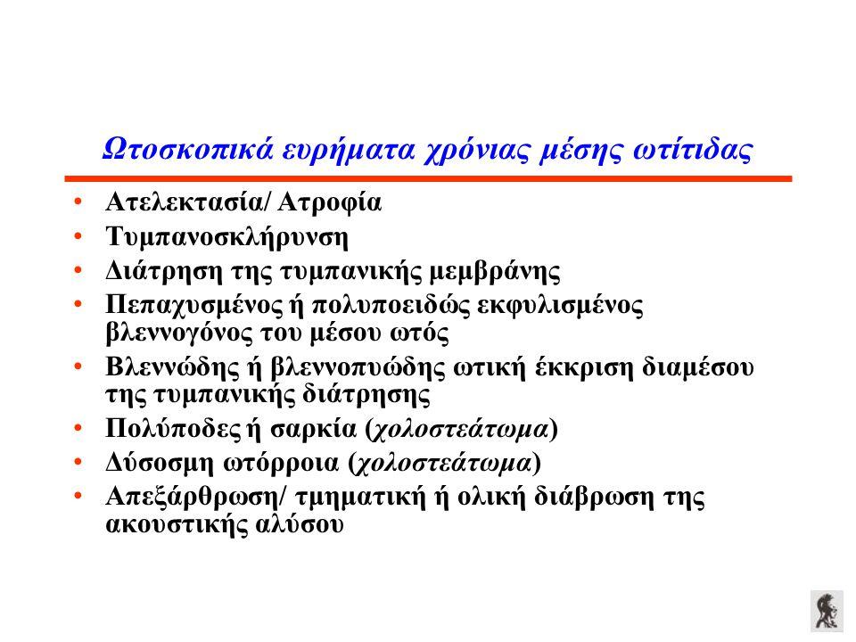 Ωτοσκοπικά ευρήματα χρόνιας μέσης ωτίτιδας