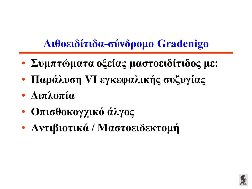 Λιθοειδίτιδα-σύνδρομο Gradenigo