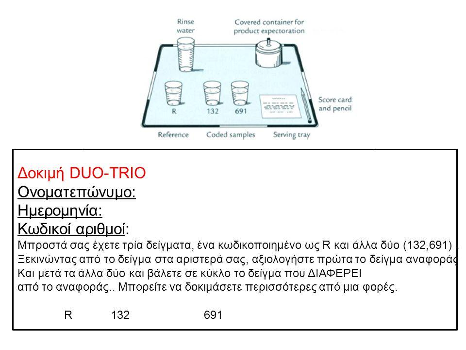 Δοκιμή DUO-TRIO Ονοματεπώνυμο: Ημερομηνία: Κωδικοί αριθμοί: