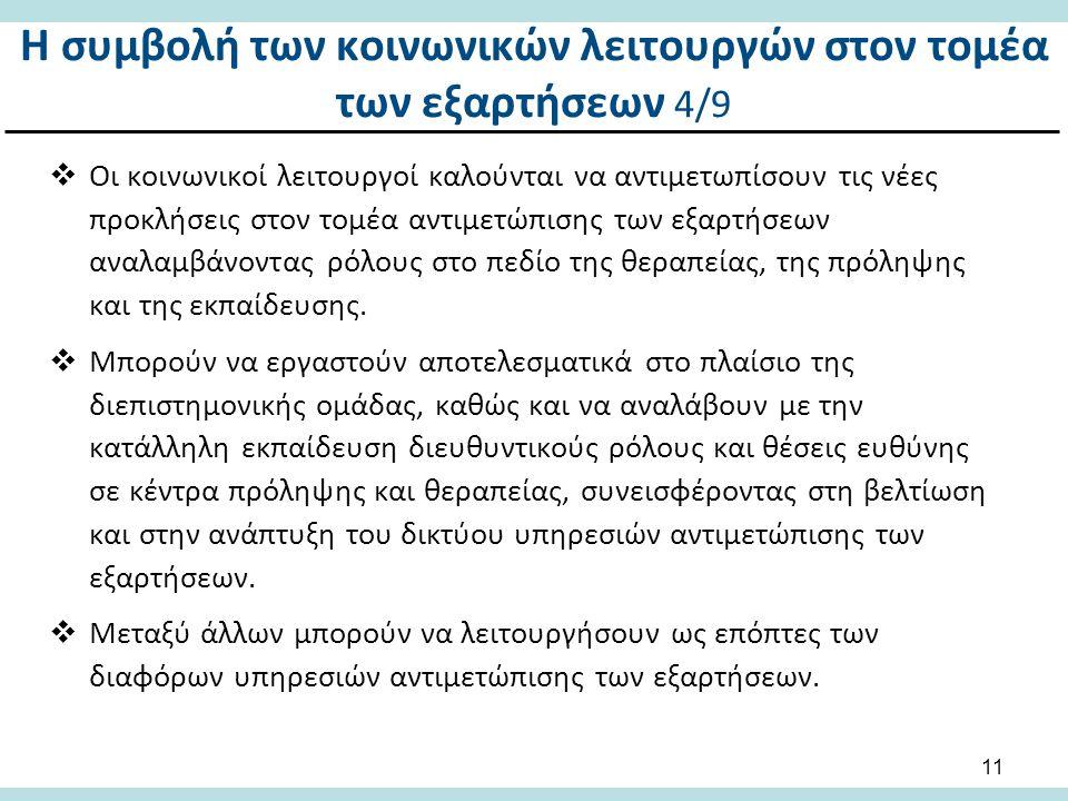 Η συμβολή των κοινωνικών λειτουργών στον τομέα των εξαρτήσεων 5/9