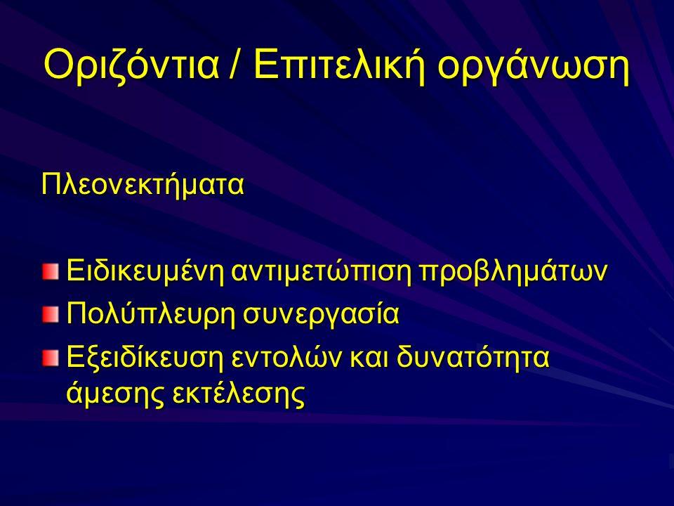 Οριζόντια / Επιτελική οργάνωση