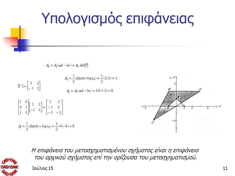 Υπολογισμός επιφάνειας