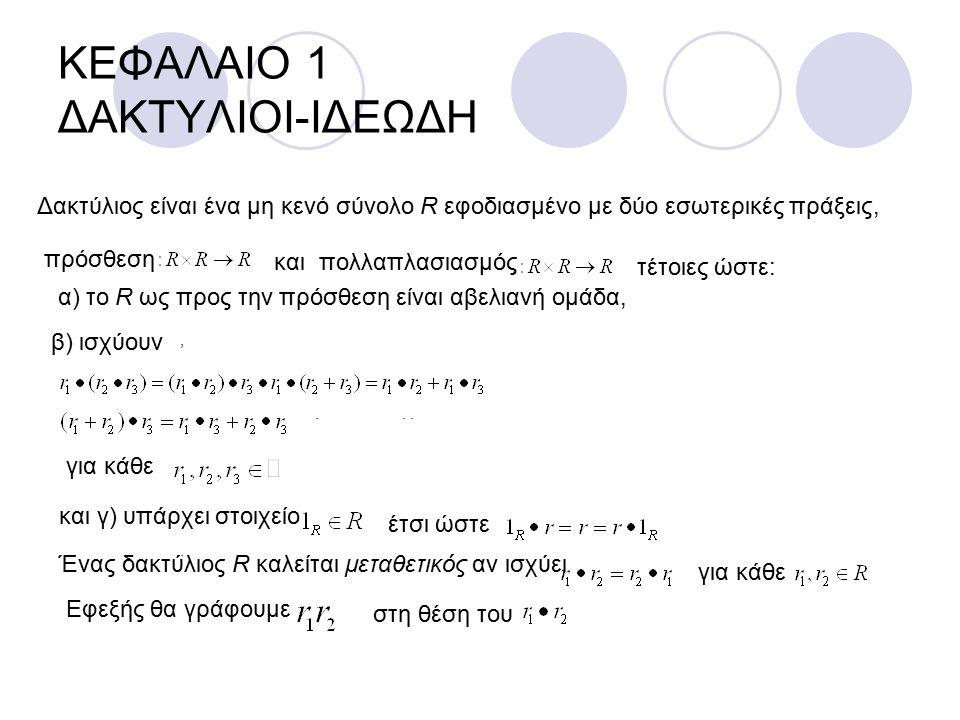 ΚΕΦΑΛΑΙΟ 1 ΔΑΚΤΥΛΙΟΙ-ΙΔΕΩΔΗ