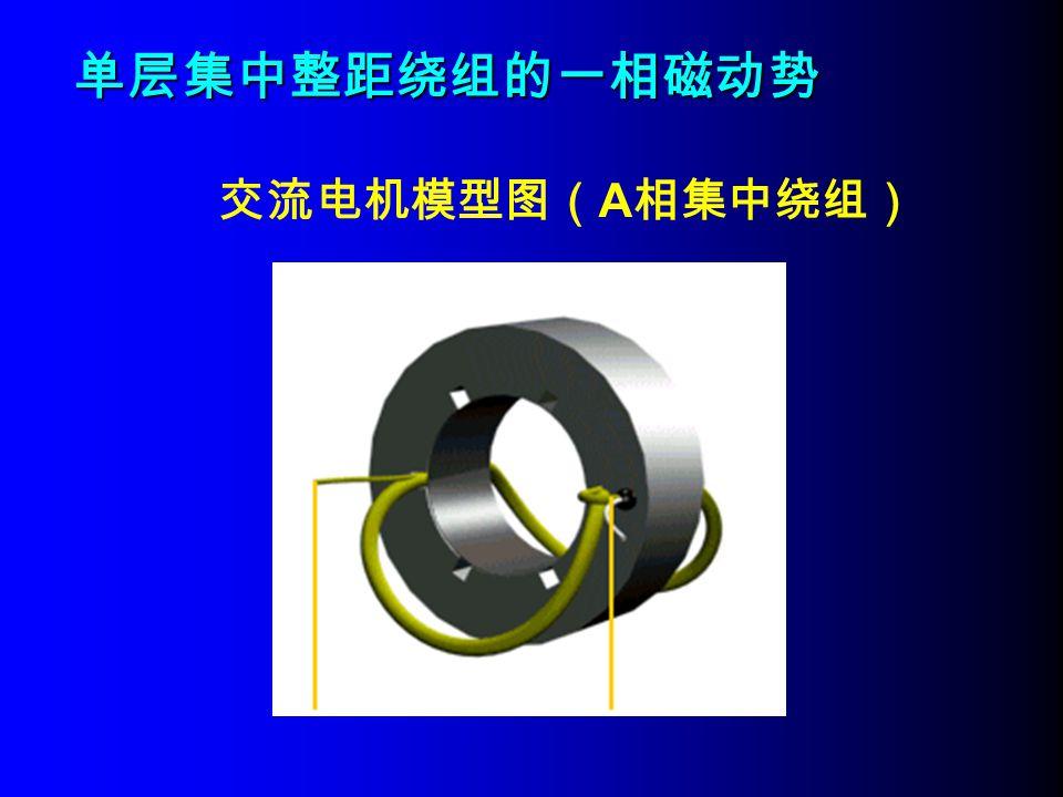 单层集中整距绕组的一相磁动势 交流电机模型图(A相集中绕组)