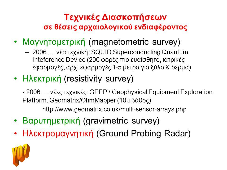 Τεχνικές Διασκοπήσεων σε θέσεις αρχαιολογικού ενδιαφέροντος