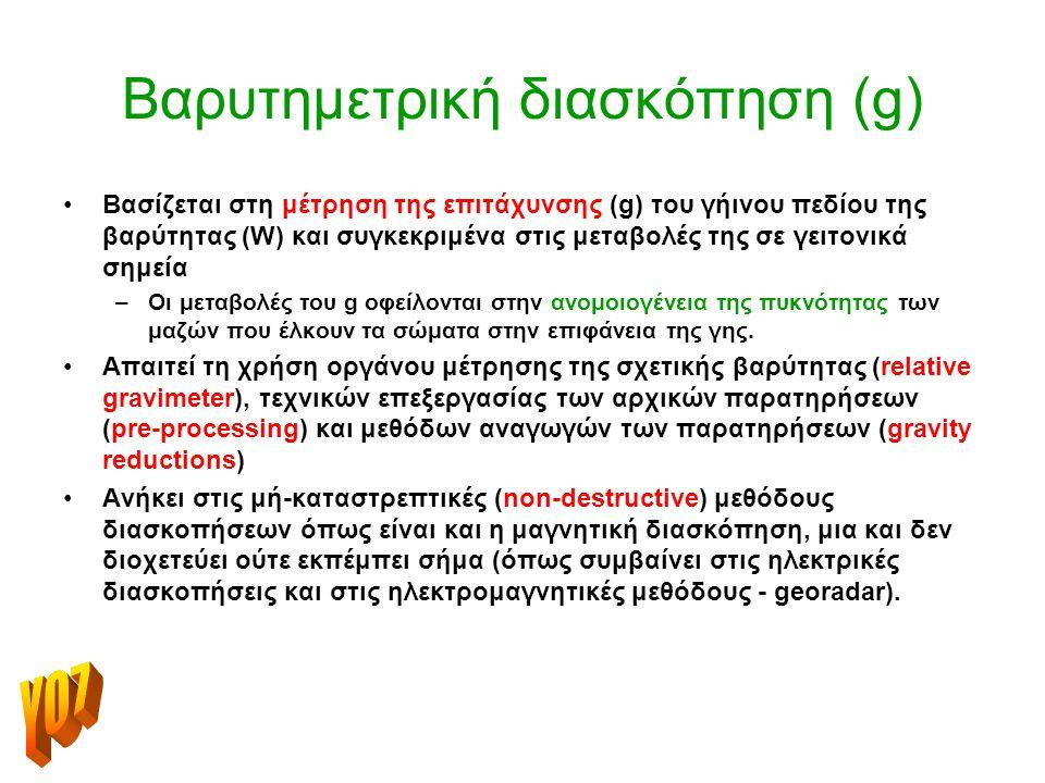 Βαρυτημετρική διασκόπηση (g)