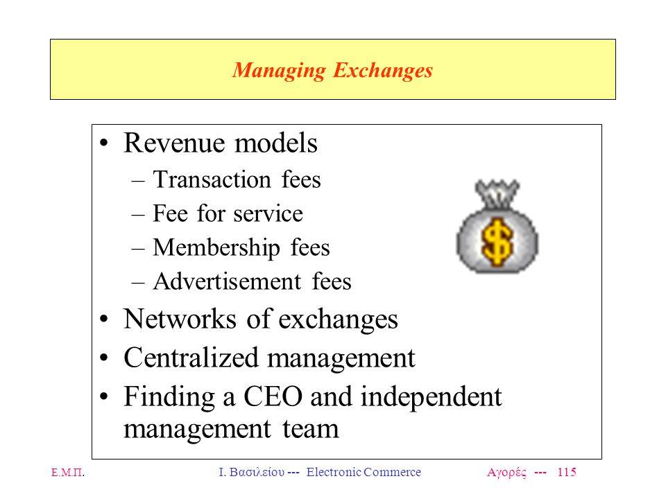 Ι. Βασιλείου --- Electronic Commerce Αγορές --- 115