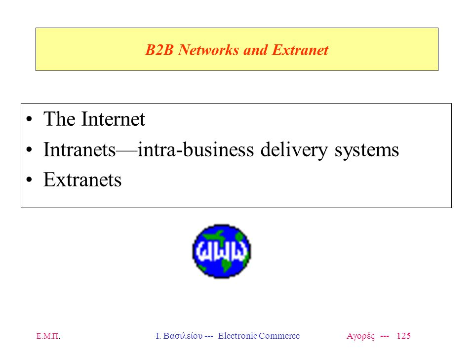 B2B Networks and Extranet