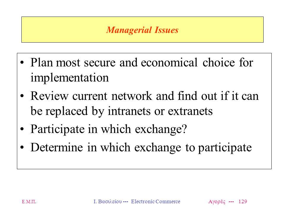 Ι. Βασιλείου --- Electronic Commerce Αγορές --- 129