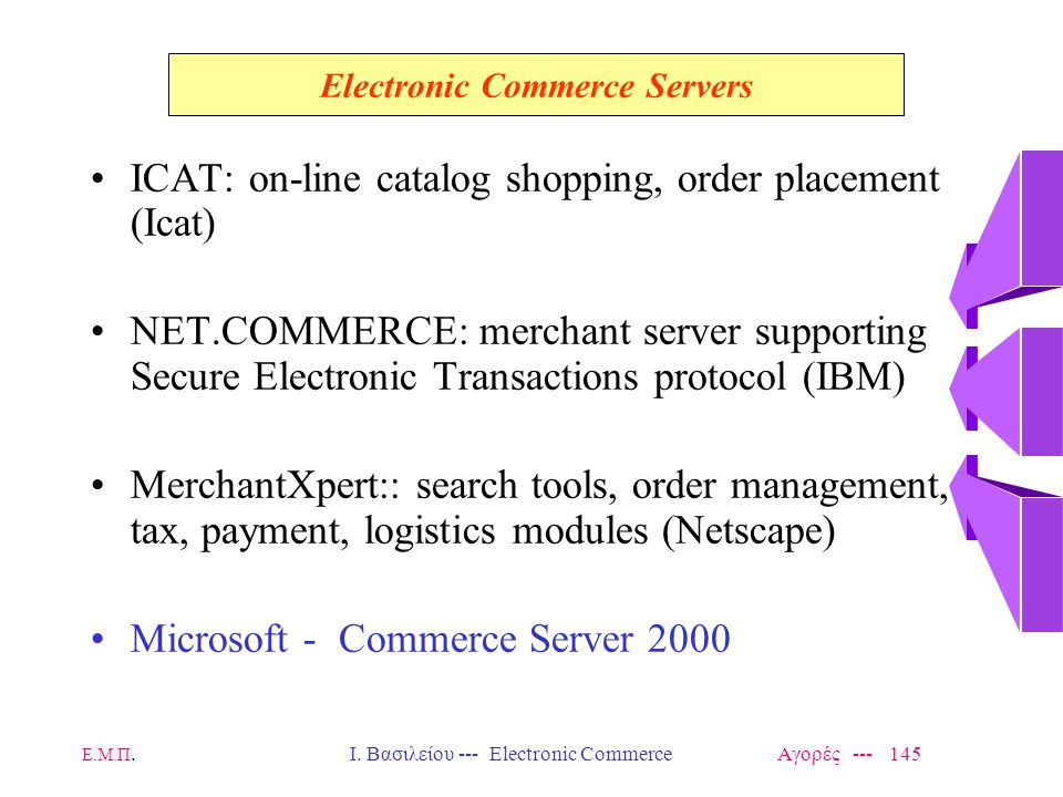 Electronic Commerce Servers