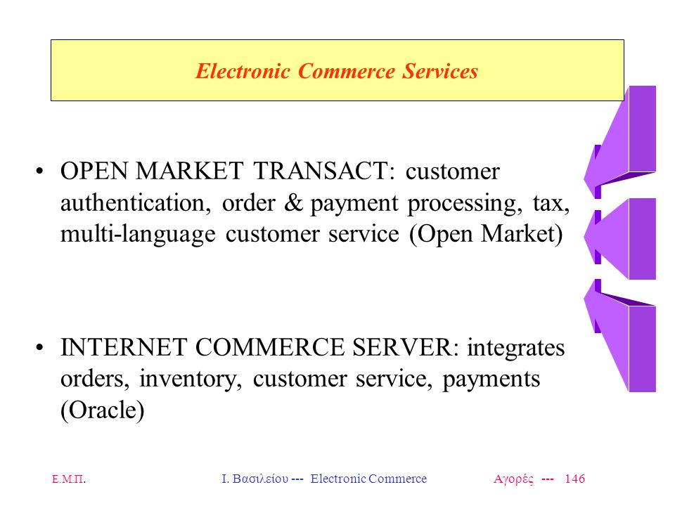 Electronic Commerce Services