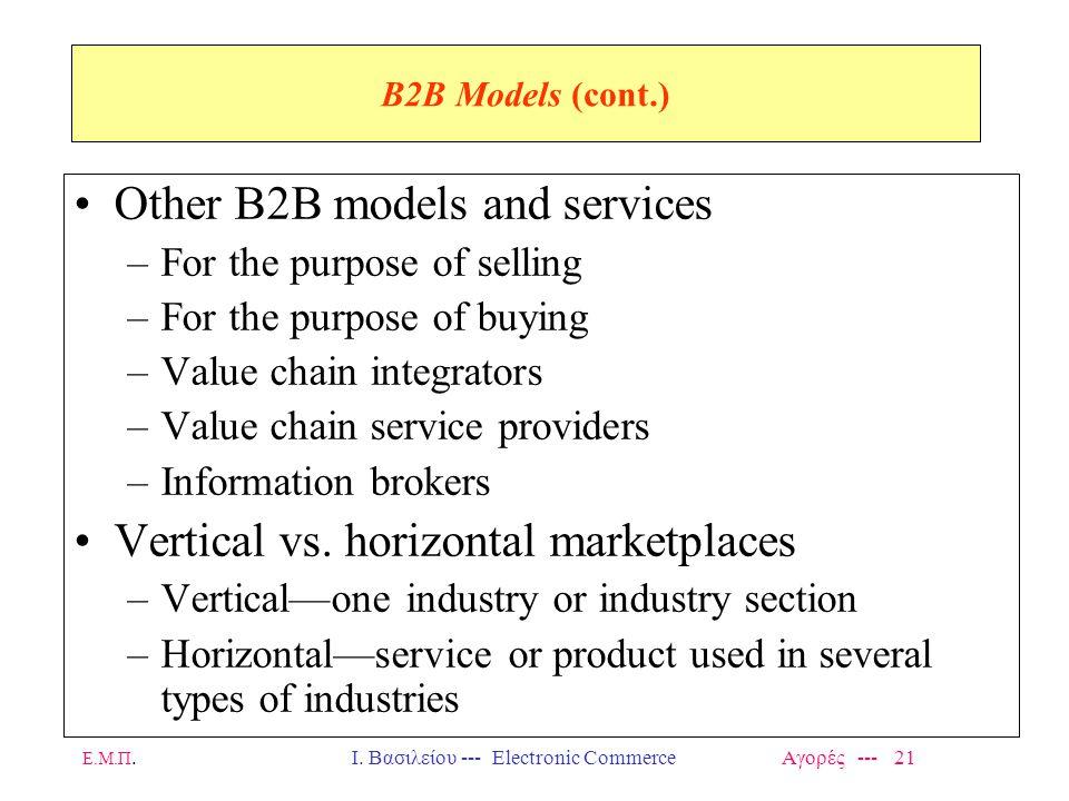 Ι. Βασιλείου --- Electronic Commerce Αγορές --- 21