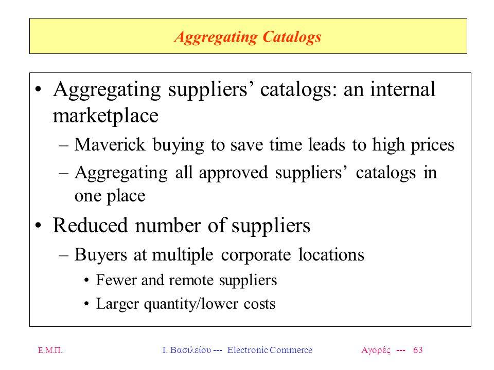 Ι. Βασιλείου --- Electronic Commerce Αγορές --- 63