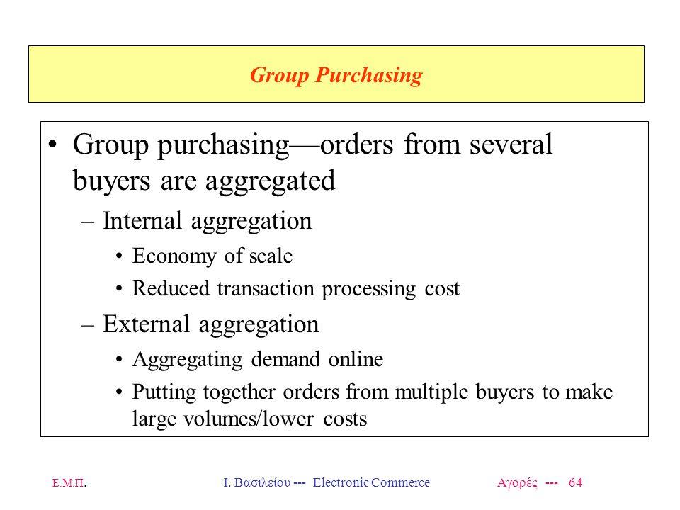 Ι. Βασιλείου --- Electronic Commerce Αγορές --- 64