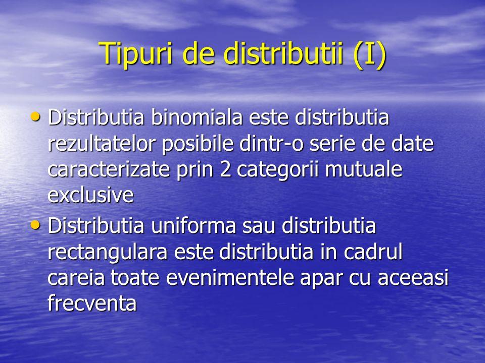 Tipuri de distributii (I)