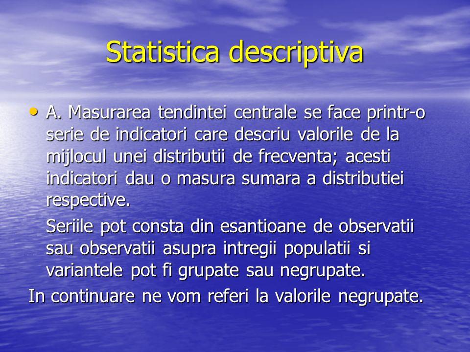 Statistica descriptiva