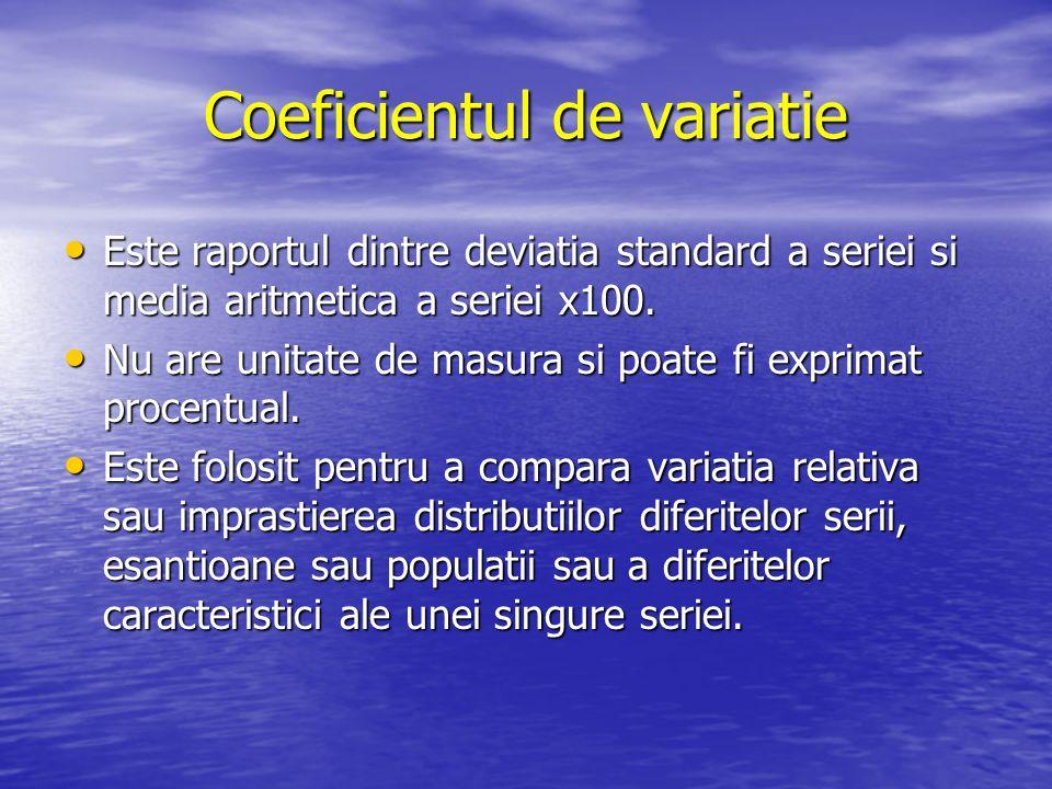 Coeficientul de variatie