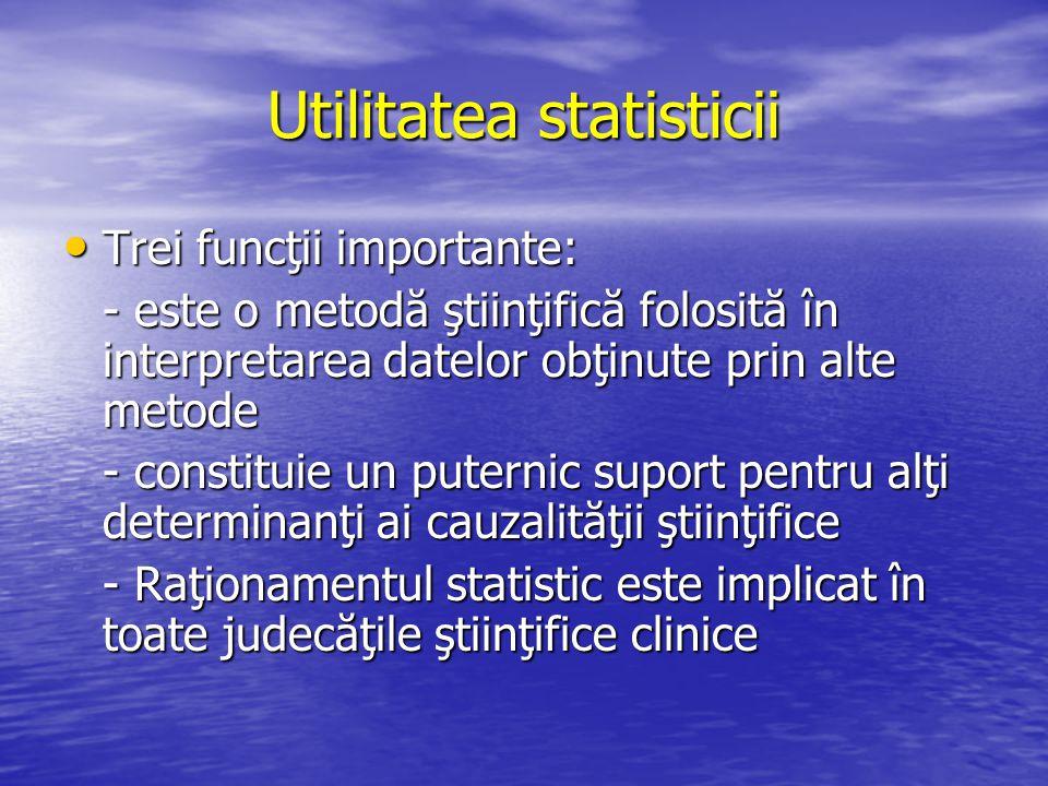 Utilitatea statisticii