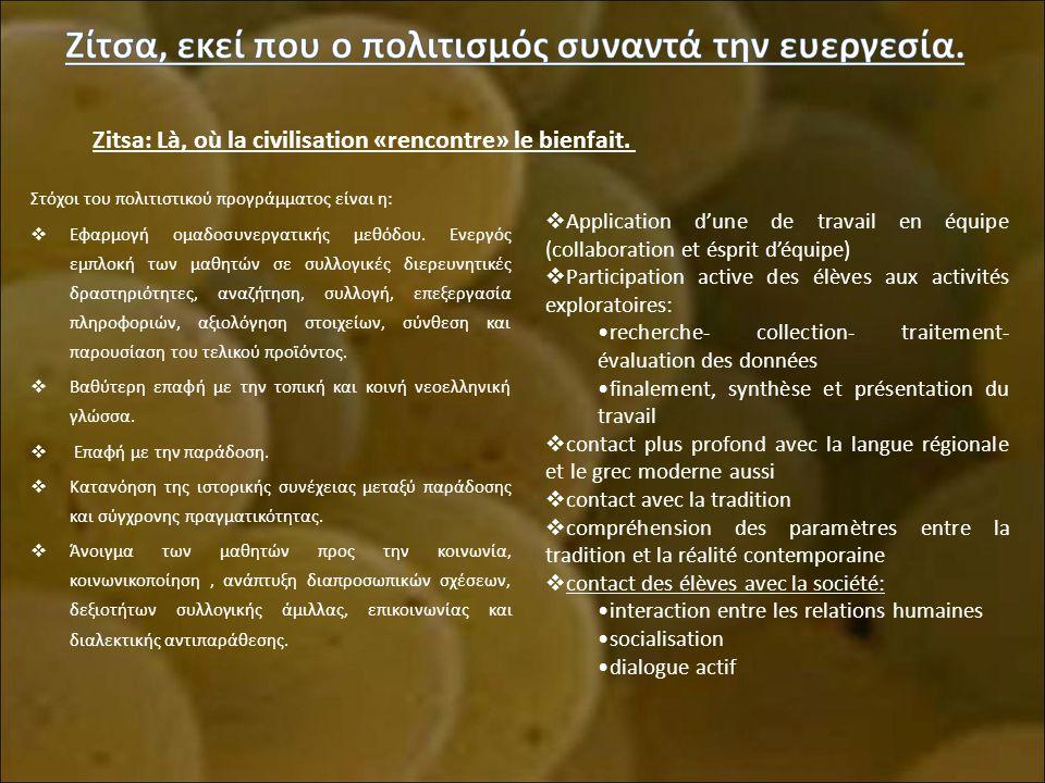 Zitsa: Là, où la civilisation «rencontre» le bienfait.