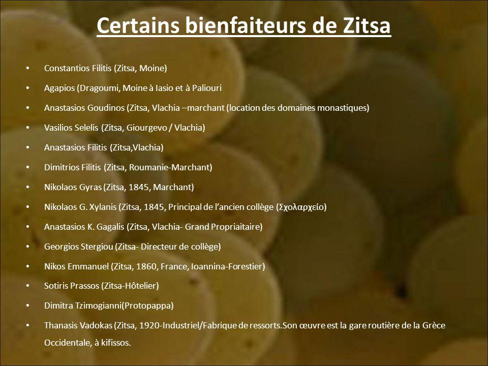 Certains bienfaiteurs de Zitsa