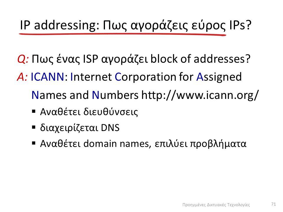 IP addressing: Πως αγοράζεις εύρος IPs