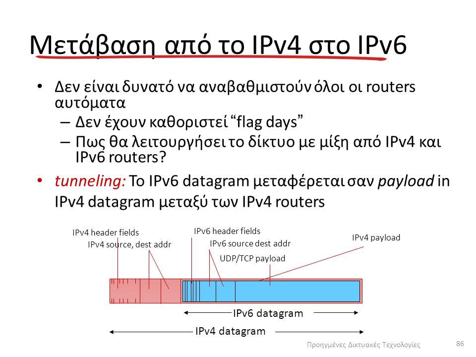 Μετάβαση από το IPv4 στο IPv6