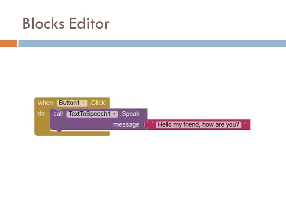Blocks Editor