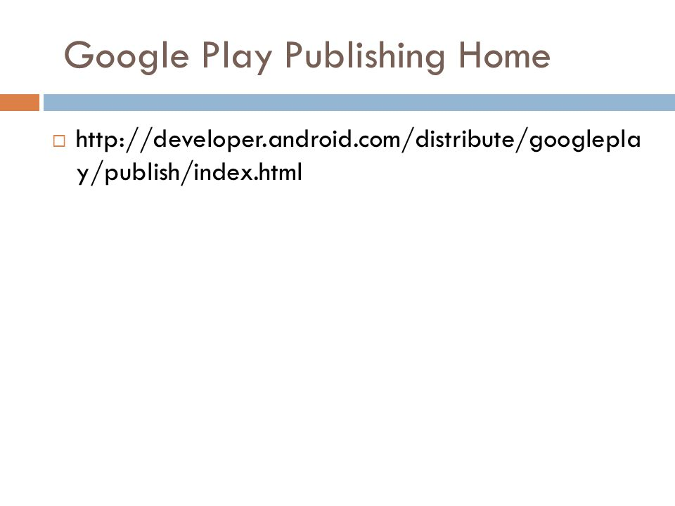 Google Play Publishing Home