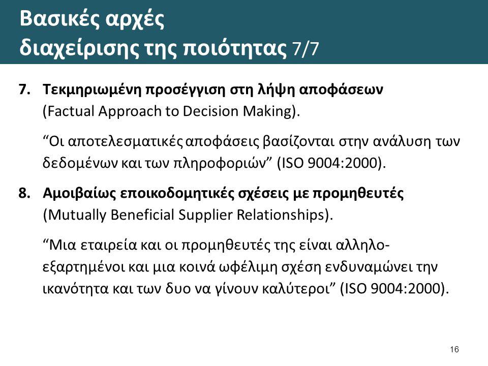 Η σειρά προτύπων ISO 9000: 2000 1/2