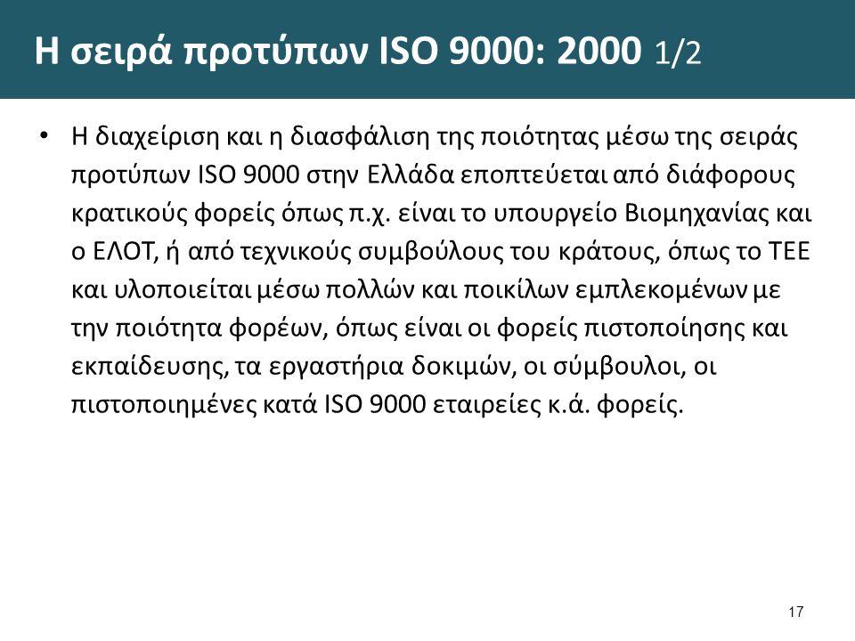 Η σειρά προτύπων ISO 9000: 2000 2/2