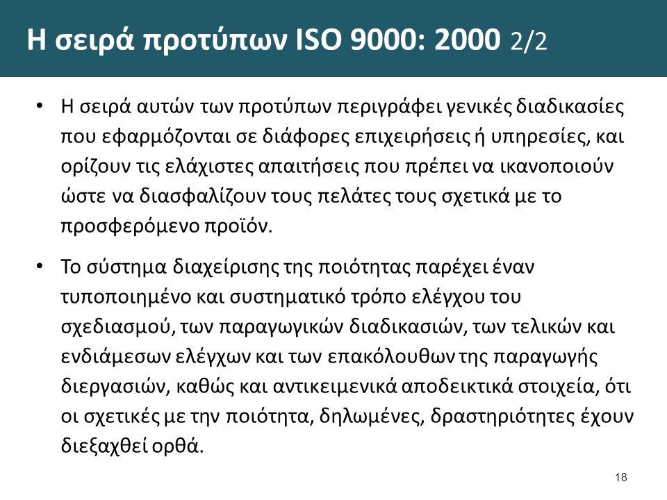 Πρότυπα Συστημάτων Ποιότητας ΙSΟ 9000:2000 (Όροι)