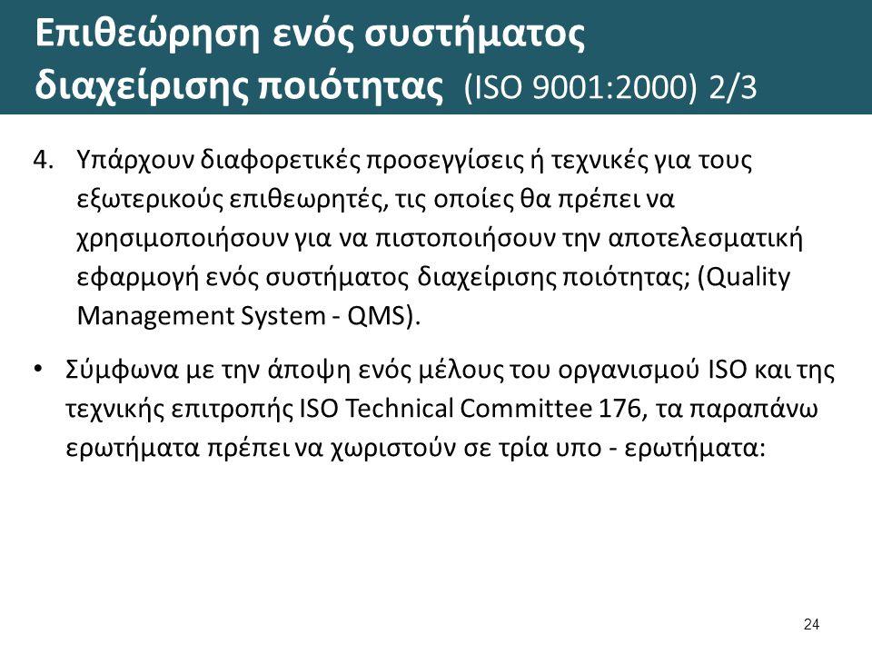 Επιθεώρηση ενός συστήματος διαχείρισης ποιότητας (ISO 9001:2000) 3/3