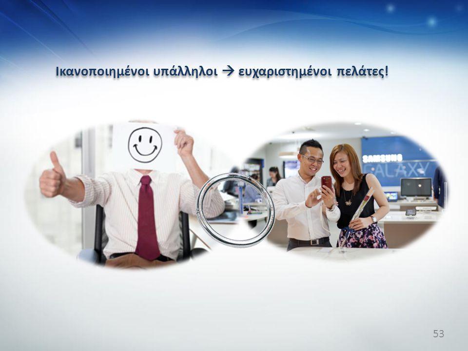 Ικανοποιημένοι υπάλληλοι  ευχαριστημένοι πελάτες!