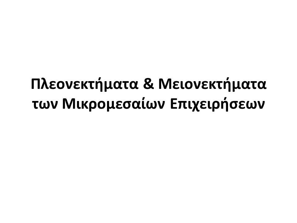 Πλεονεκτήματα & Μειονεκτήματα των Μικρομεσαίων Επιχειρήσεων
