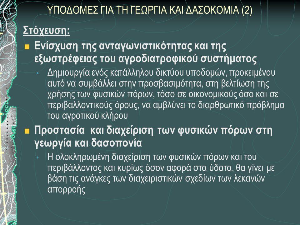 ΥΠΟΔΟΜΕΣ ΓΙΑ ΤΗ ΓΕΩΡΓΙΑ ΚΑΙ ΔΑΣΟΚΟΜΙΑ (2)