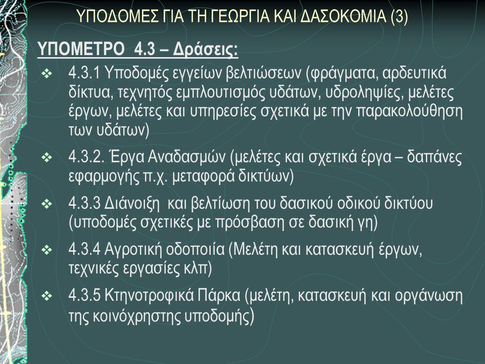 ΥΠΟΔΟΜΕΣ ΓΙΑ ΤΗ ΓΕΩΡΓΙΑ ΚΑΙ ΔΑΣΟΚΟΜΙΑ (3)