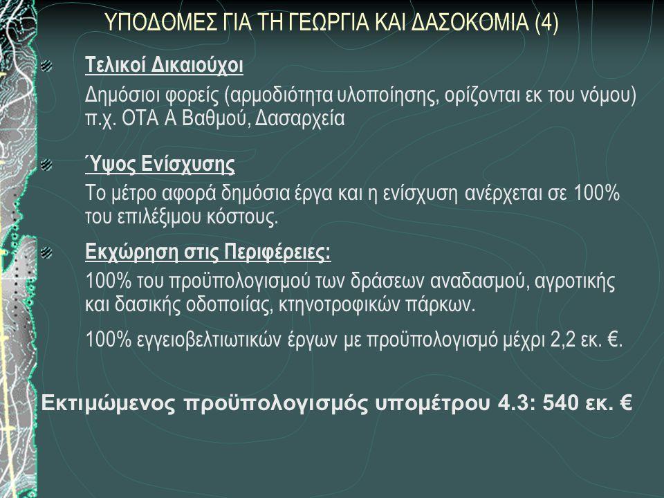 ΥΠΟΔΟΜΕΣ ΓΙΑ ΤΗ ΓΕΩΡΓΙΑ ΚΑΙ ΔΑΣΟΚΟΜΙΑ (4)