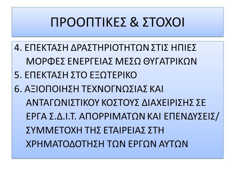 ΠΡΟΟΠΤΙΚΕΣ & ΣΤΟΧΟΙ