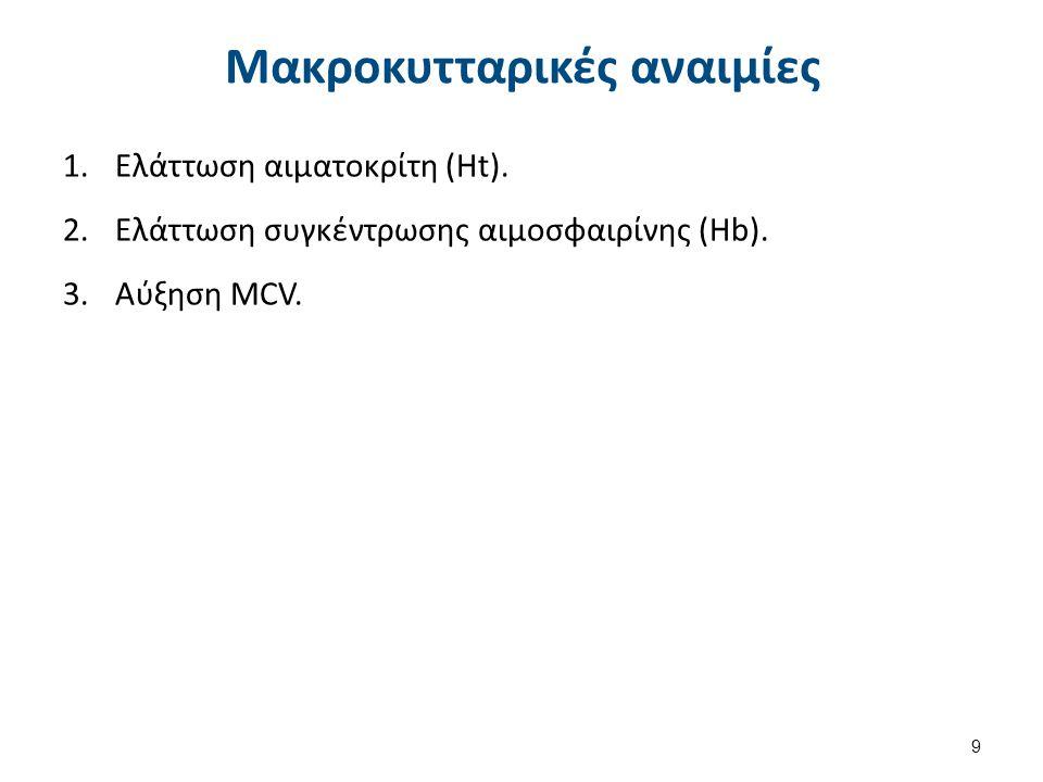 Μακροκυττάρωση MCV > 100 fl