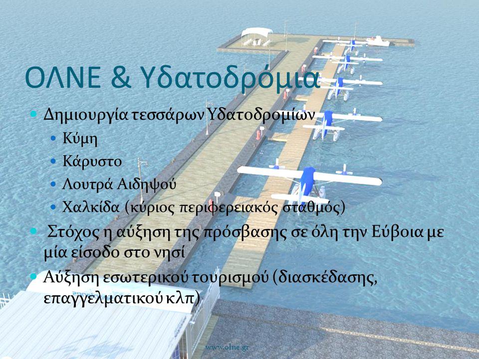ΟΛΝΕ & Υδατοδρόμια Δημιουργία τεσσάρων Υδατοδρομίων