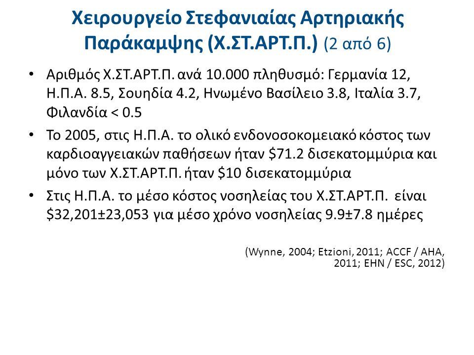 Χειρουργείο Στεφανιαίας Αρτηριακής Παράκαμψης (Χ.ΣΤ.ΑΡΤ.Π.) (3 από 6)